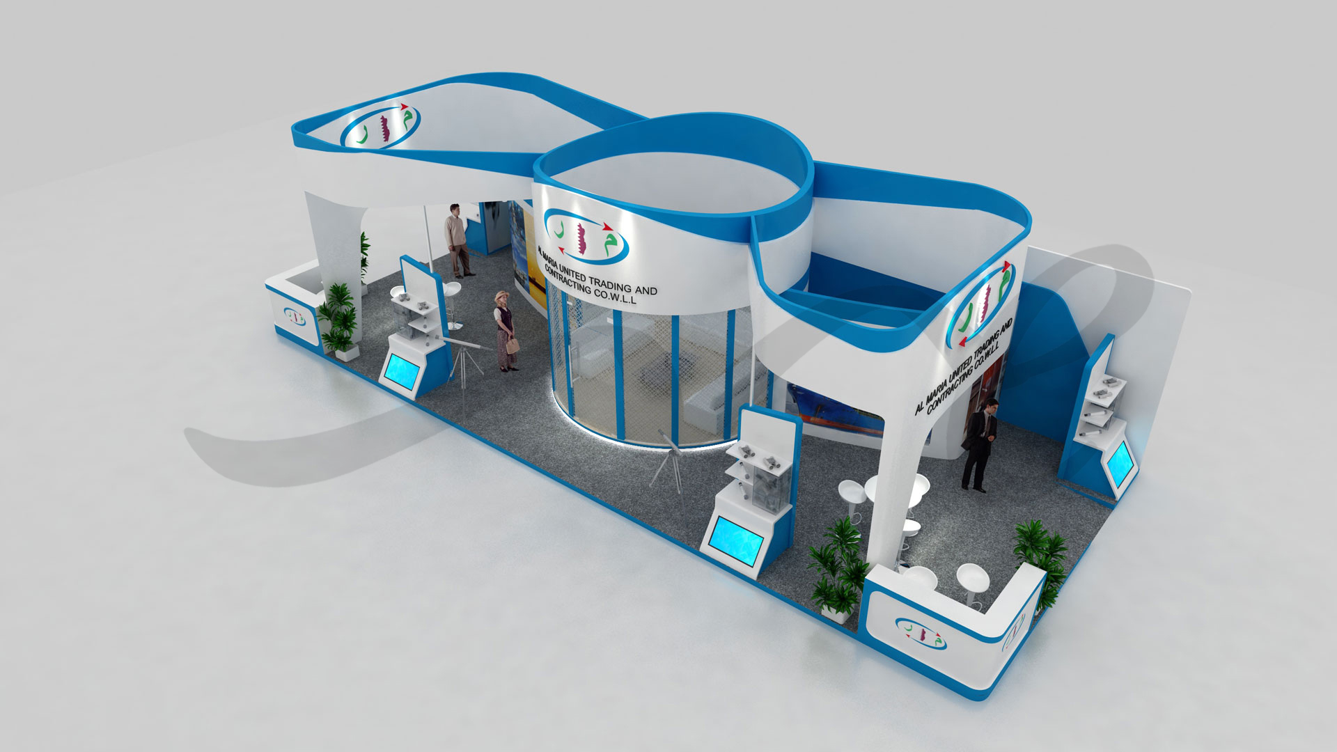 3D Design of Al Maria Stand by ME Visual