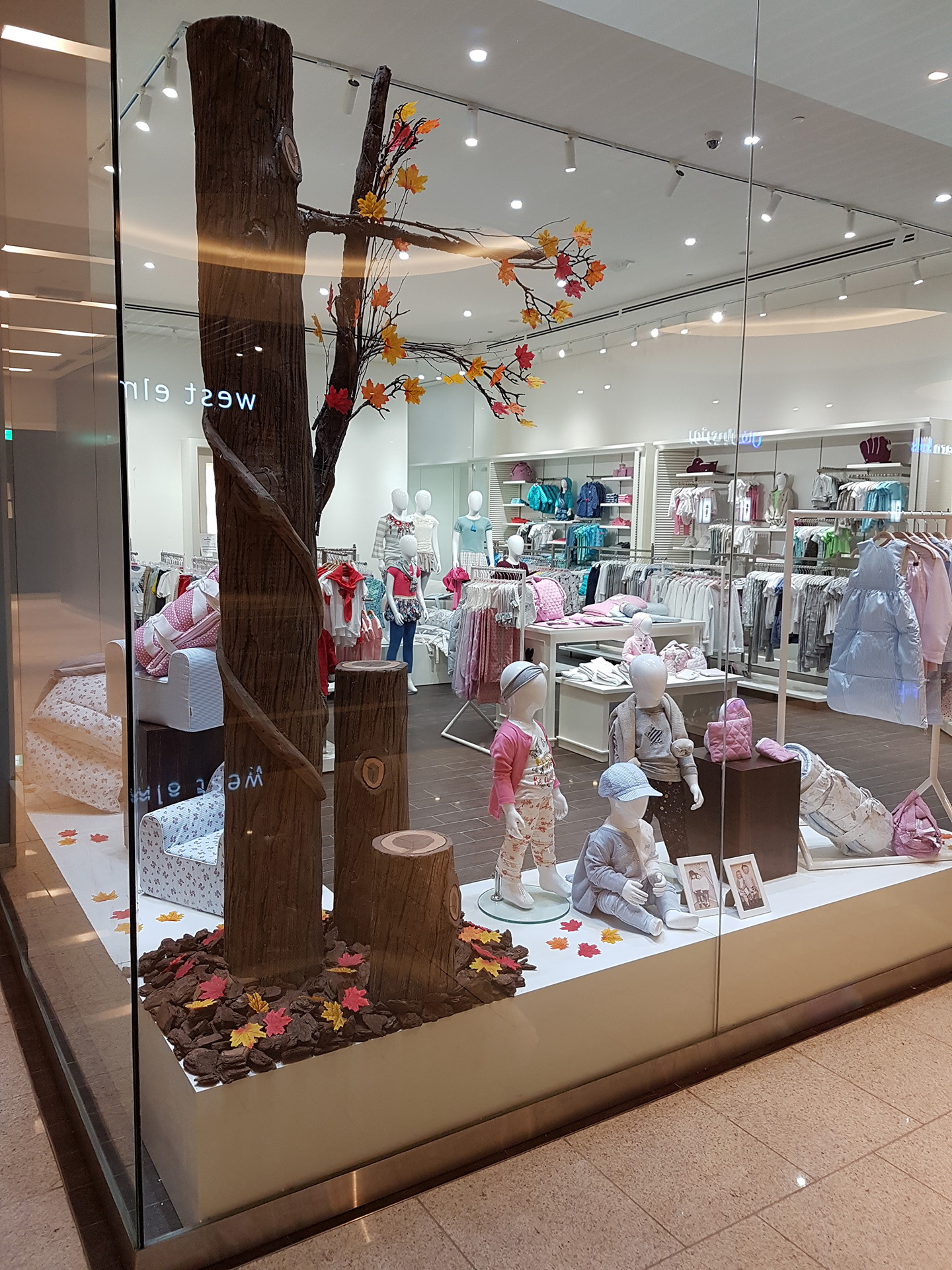 Babycare Window produced and installed by ME Visual, Qatar
