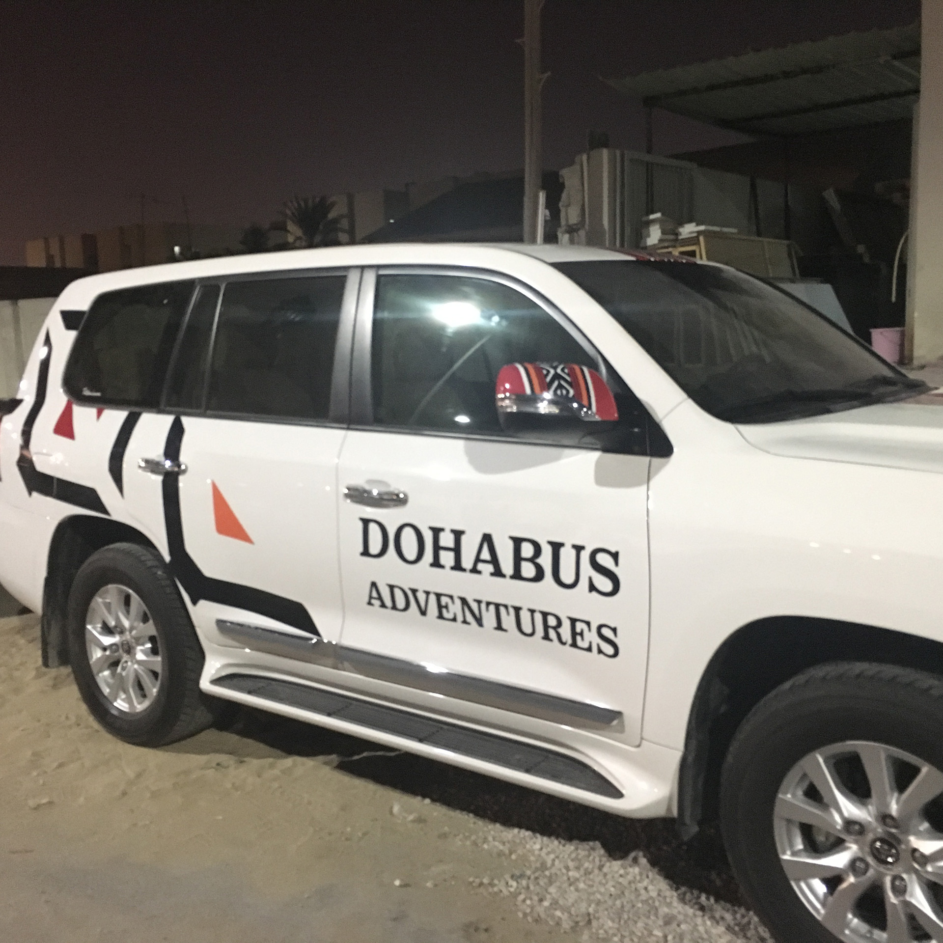 Doha Bus Adventures Land Cruisers wrapped by ME Visual