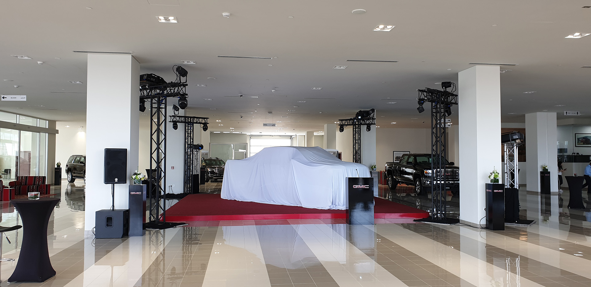 Event for the opening of the GMC and Cadillac showrooms and the launches of the 2019 GMC Sierra, Cadillac XT4, XT5 and XT6 - designed, produced and managed by ME Visual, Qatar