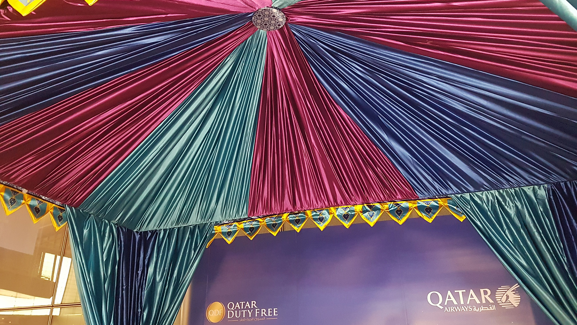 Qatar Airways Marrakech Launch Tent at Hamad International Airport made by ME VIsual