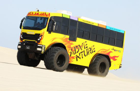 Monster Bus vehicle wrap for Doha Bus by ME Visual
