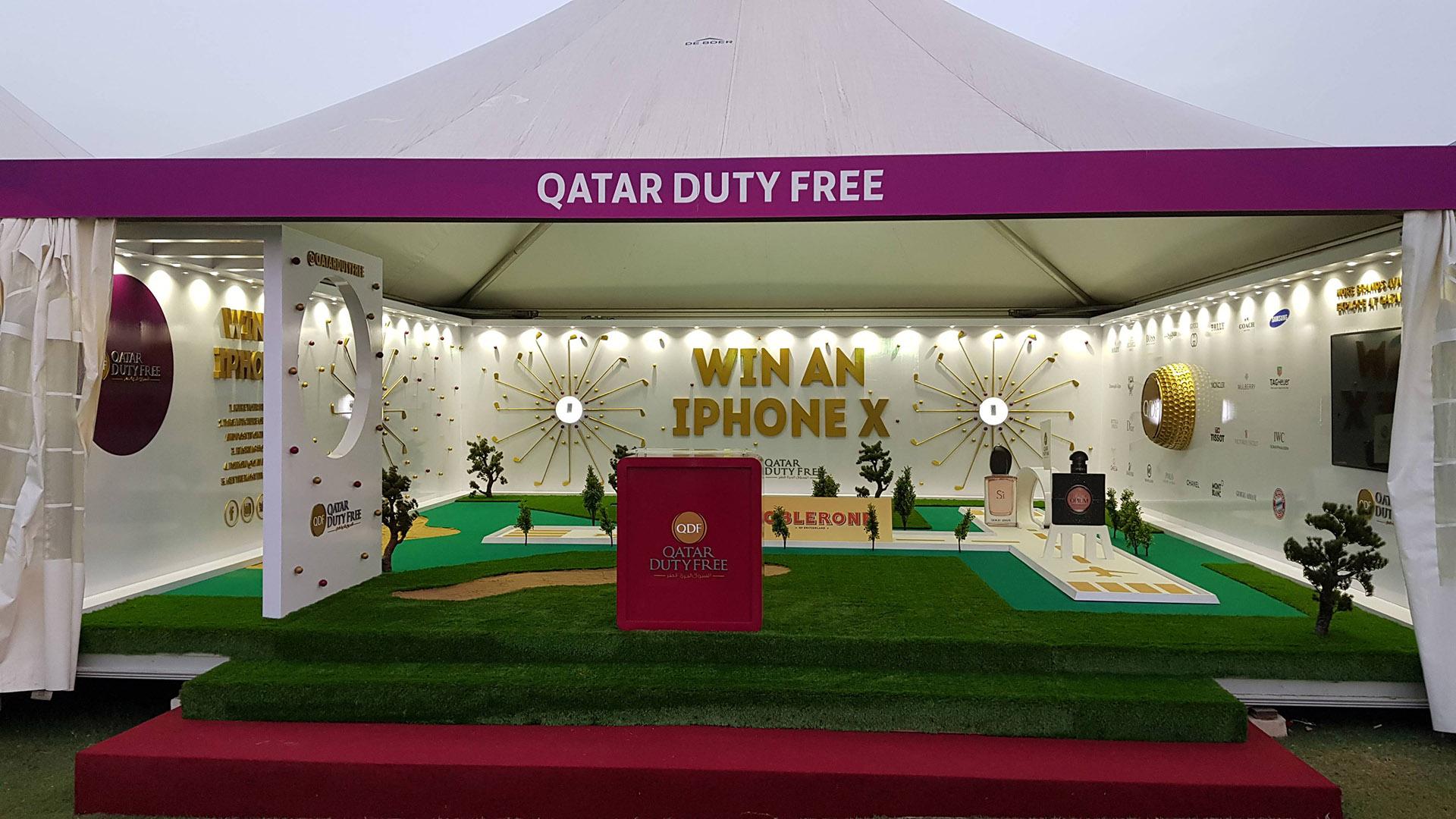 Qatar Duty Free Tent at Qatar Masters 2018 ME Visual
