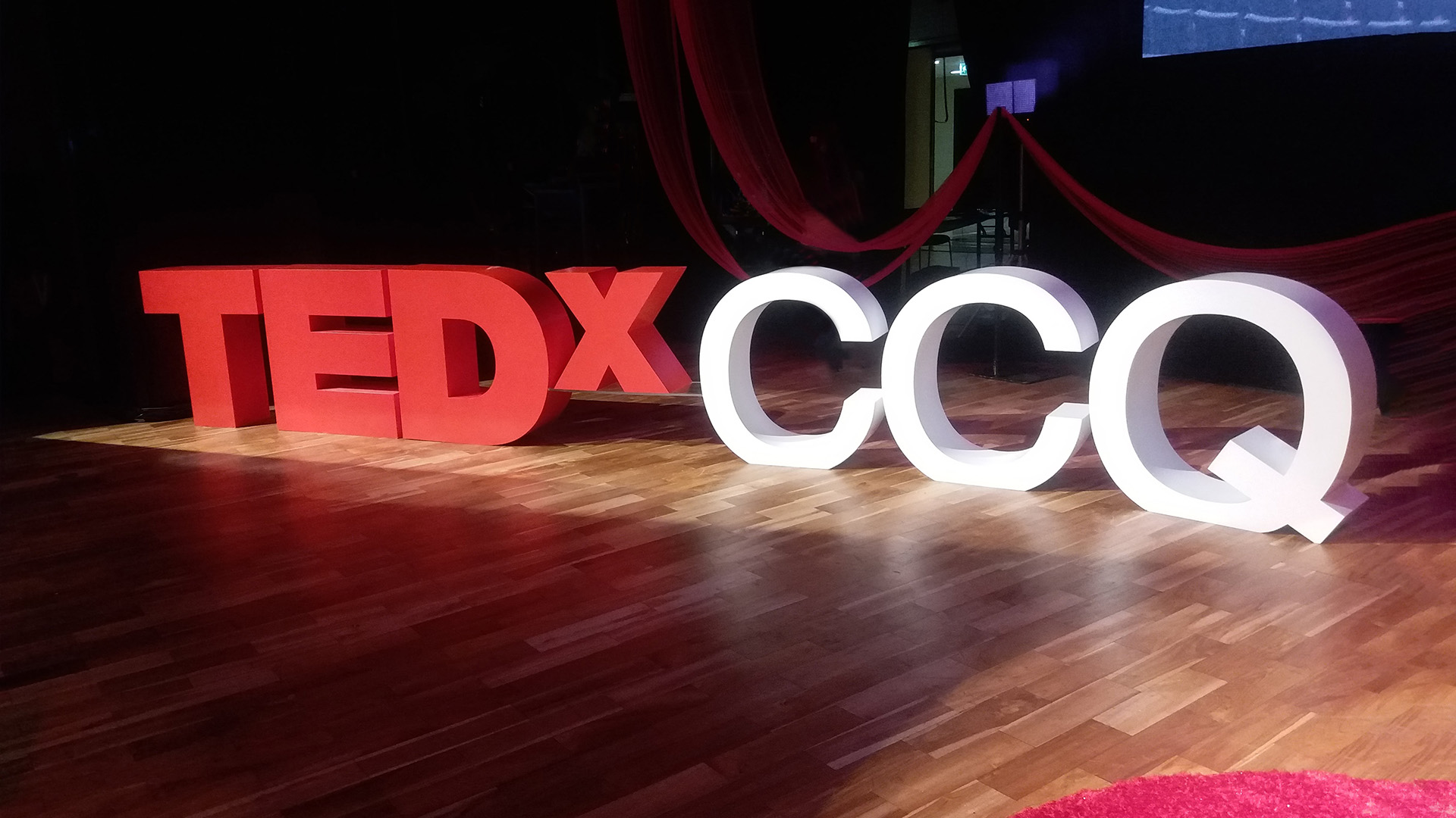 Staging for TedX CCQ by ME Visual