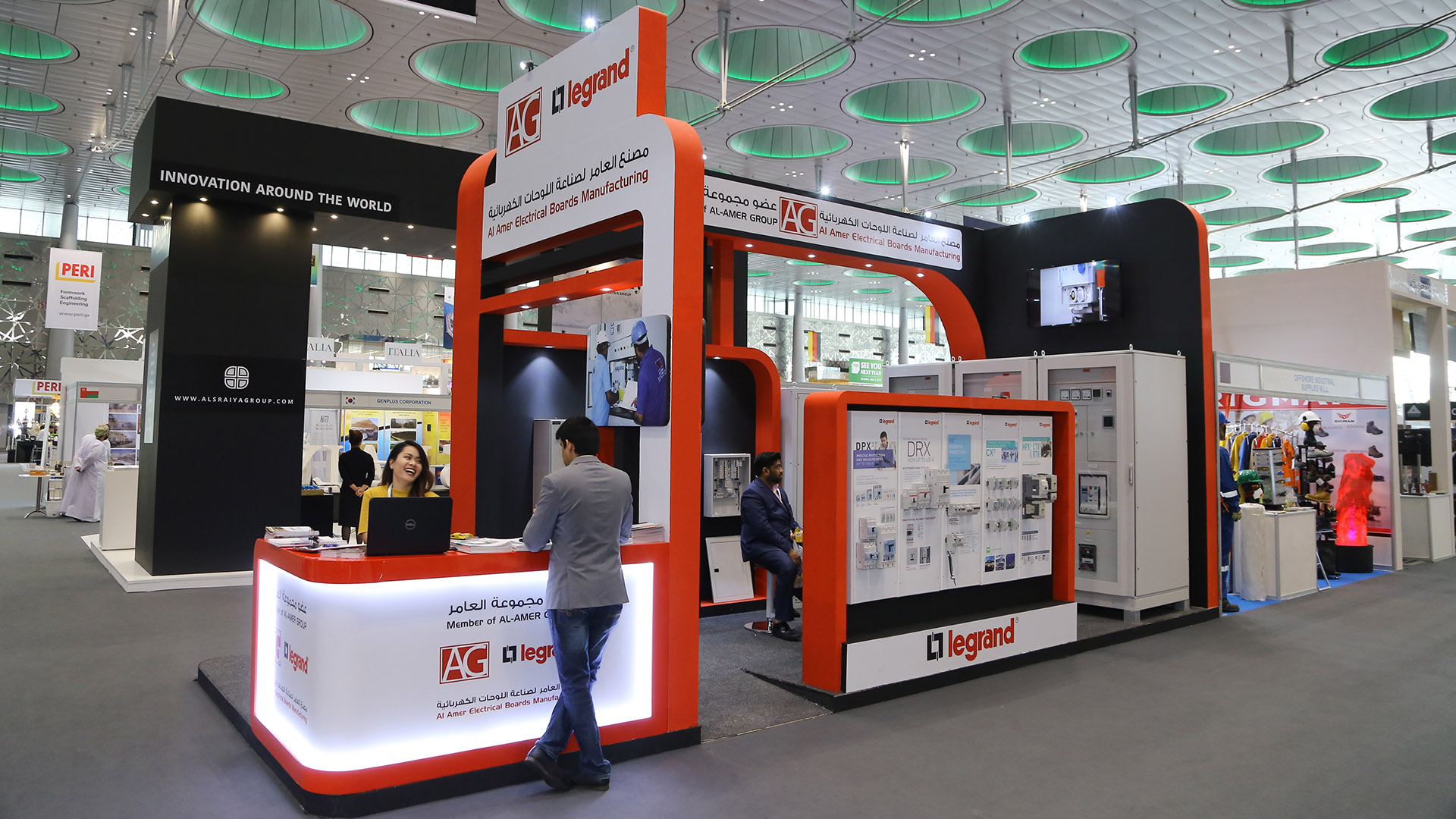 Exhibition Stand for Al Amer Group at DECC produced by ME Visual