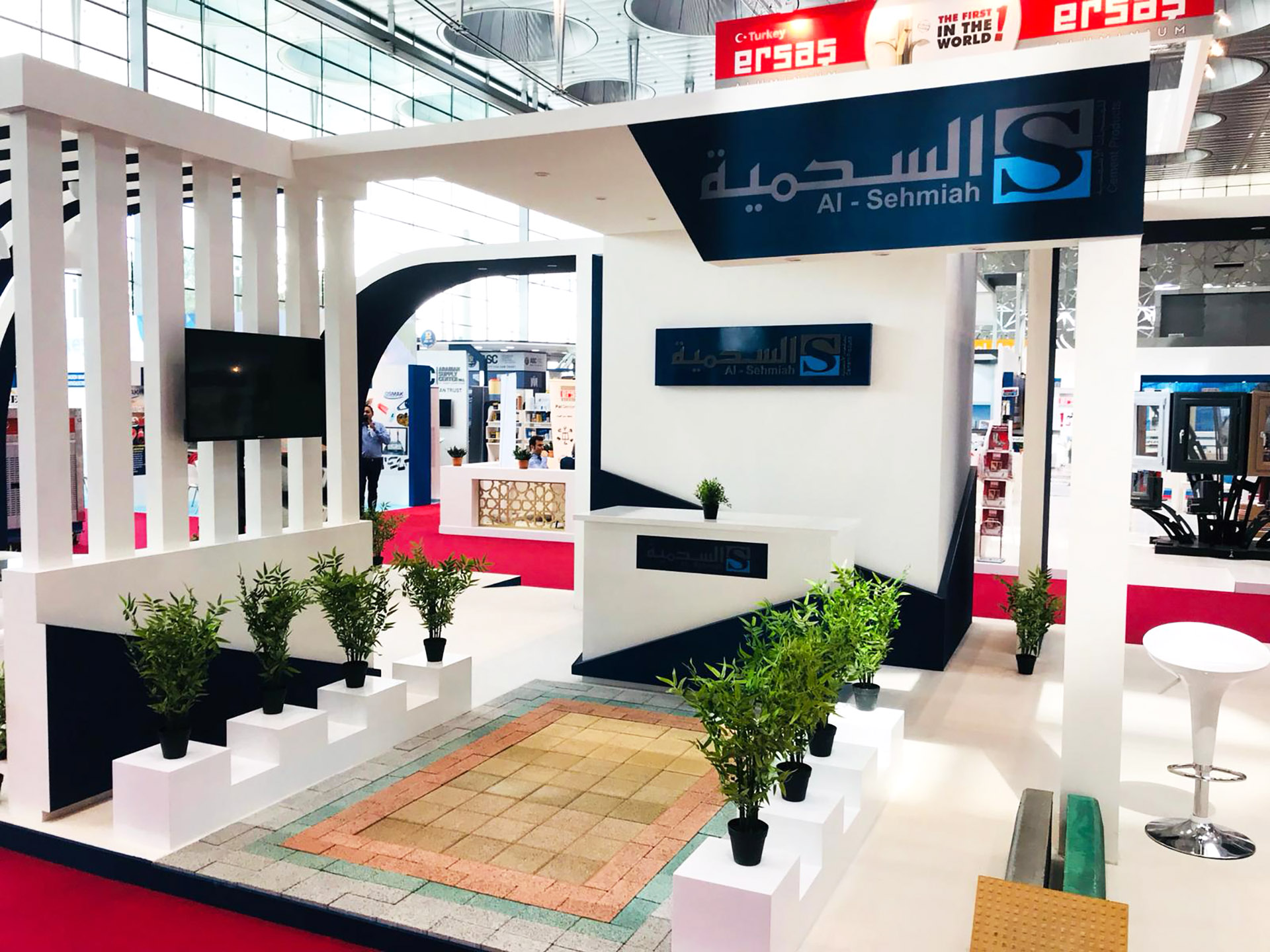Exhibition Stand for Al Sehmiah produced and installed by ME Visual, Qatar