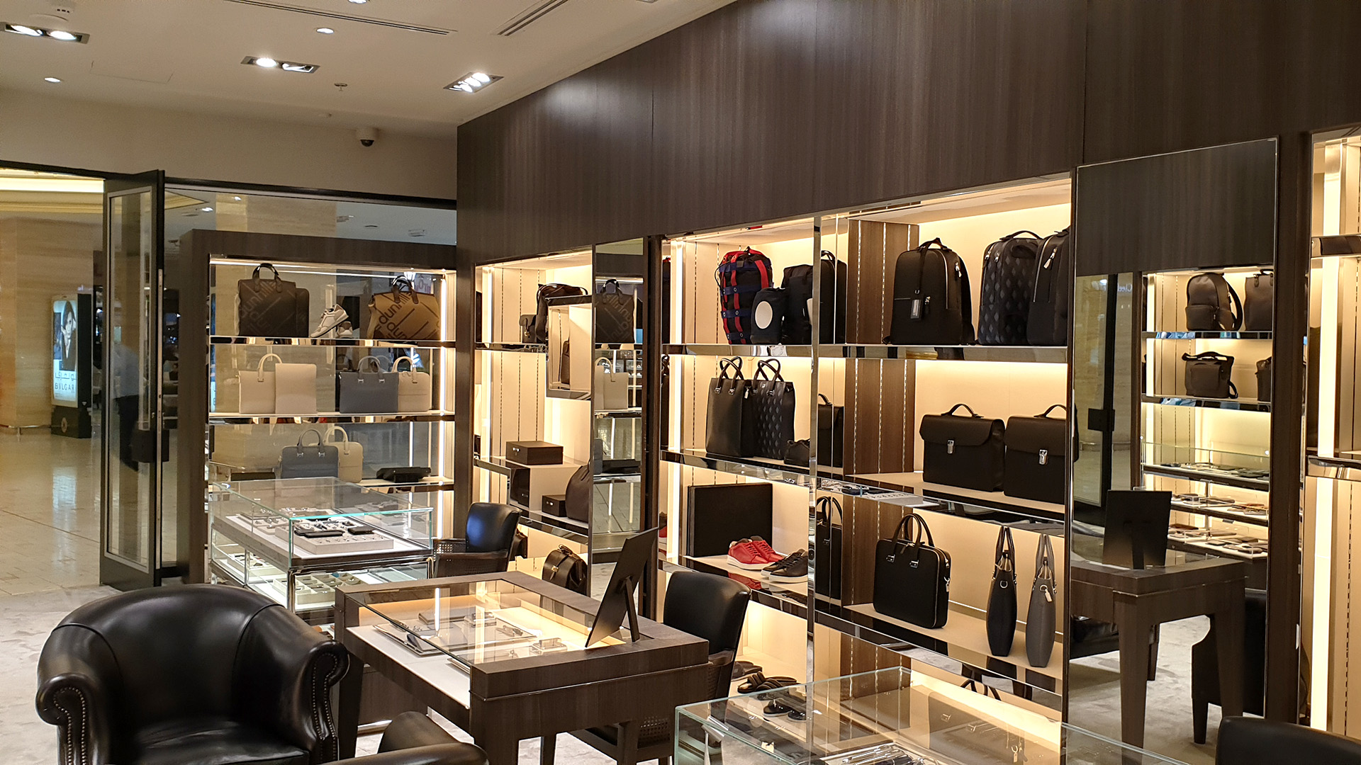 Refurbished Interior for Dunhill in Villagio using 3M DiNOC - implemented by ME Visual, Qatar