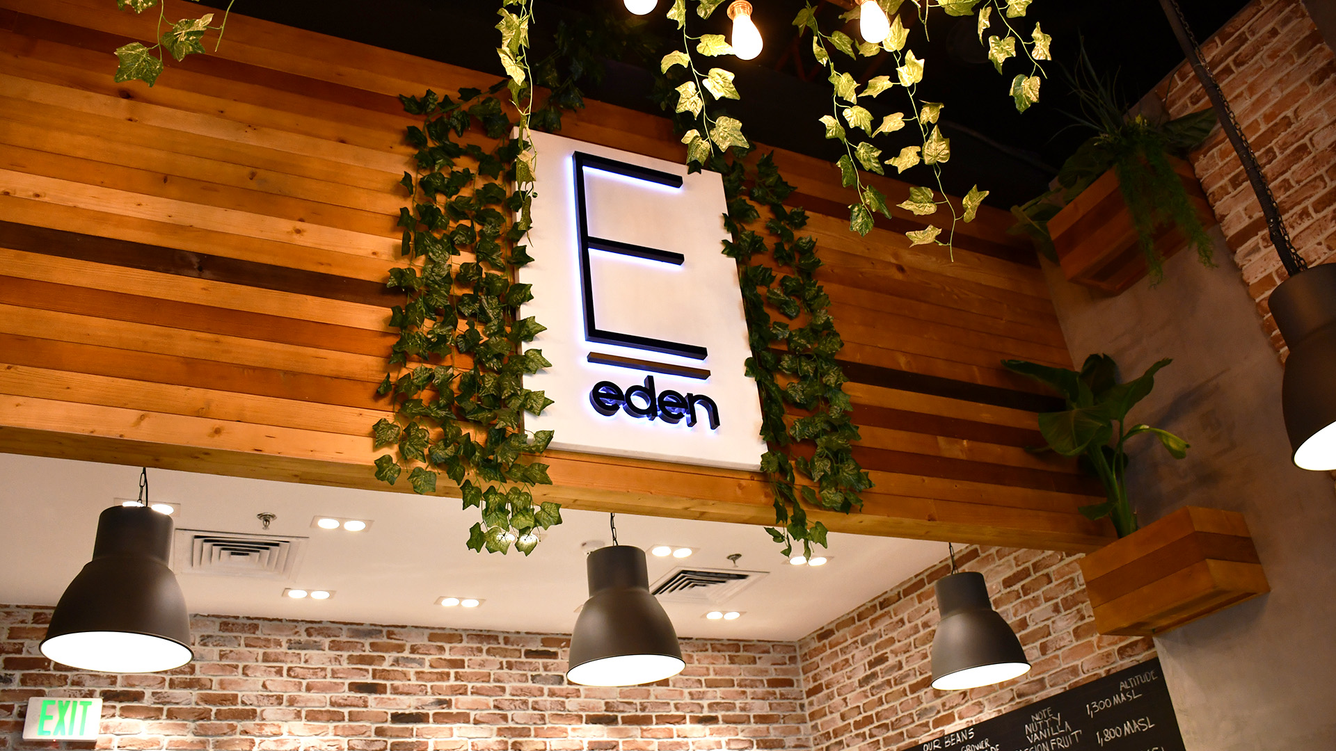 Interior fit-out and custom made furniture by ME Visual for Eden Cafe in The Pearl, Qatar