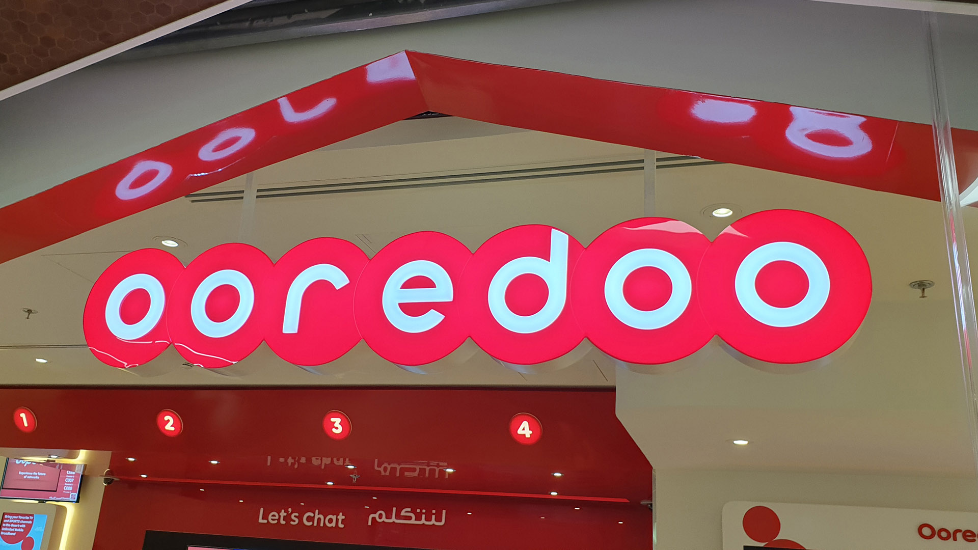 Oordeoo Shop Front Signs at Msheireb Metro Station made and installed by ME Visual.